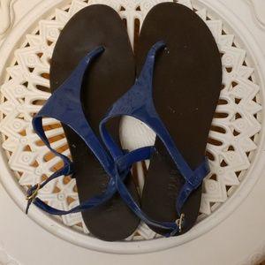 Ralph Lauren Blue Sandals SIZE 8.5 Medium